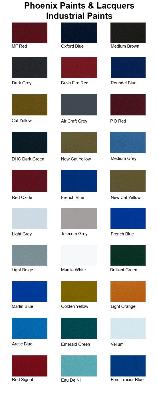 Paint Colour Phoenix Lacquers Paints Pty Ltd